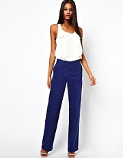 ASOS Pants with Wide Leg in Twill