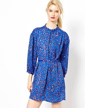 Image 1 ofSee By Chloe Blossom Print Shirt Dress with Belt