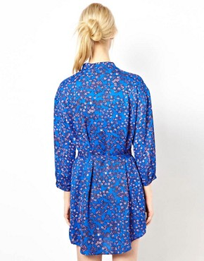 Image 2 ofSee By Chloe Blossom Print Shirt Dress with Belt
