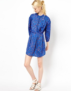 Image 4 ofSee By Chloe Blossom Print Shirt Dress with Belt