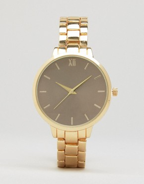 New Look Gold Oversized Dial Watch