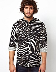 Denim &amp; Supply Ralph Lauren Shirt In Zebra Print