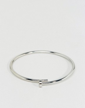 Cheap Monday Nailed Bangle Bracelet In Silver