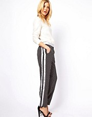 ASOS Pants in Spot Print with Contrast Panel