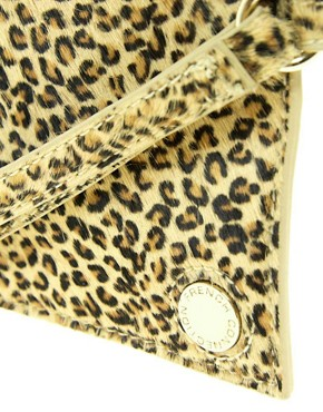 Image 4 ofFrench Connection Sweetie Leather Clutch Bag With Wrist Strap