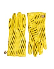 Moschino Cheap &amp; Chic Perforated Heart Gloves