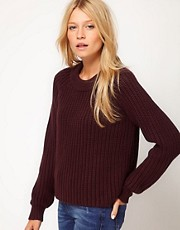 ASOS Crop Fishermans Knit Jumper