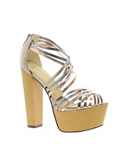 ASOS HELIUM Metallic Platforms