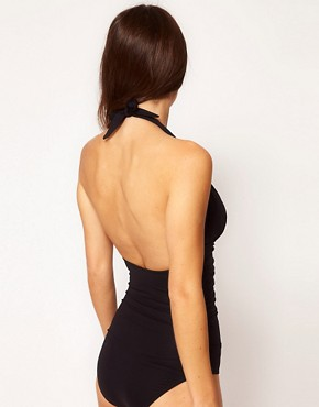 Image 2 ofASOS Padded Plunge Cut Out Swimsuit