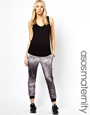 ASOS Maternity Jogger In Photographic Galaxy Print