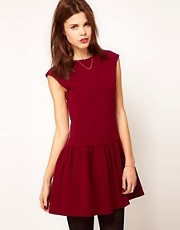 Warehouse Gathered Waist Dress