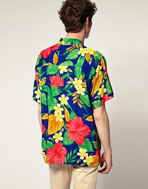 Image 2 ofKarmakula Key West Blue Hawaiian Shirt