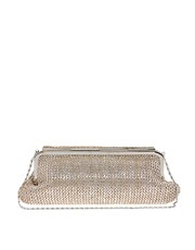 Oasis Foldover Straw Clutch