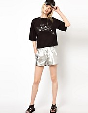 BACK by Ann-Sofie Back Boxer Shorts in Silver