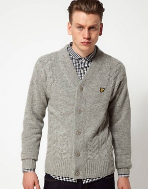 Image 1 ofLyle and Scott Vintage Cardigan with Cable