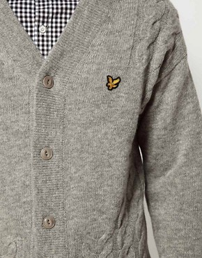 Image 3 ofLyle and Scott Vintage Cardigan with Cable
