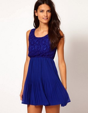 Image 1 ofGlamorous Lace Top Skater Dress