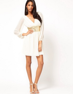Bild 4 von ASOS  Partykleid mit paillettenbesetztem Band