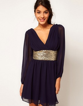 Bild 1 von ASOS  Partykleid mit paillettenbesetztem Band