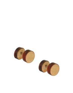 Image 2 ofASOS Wooden Plug Earrings