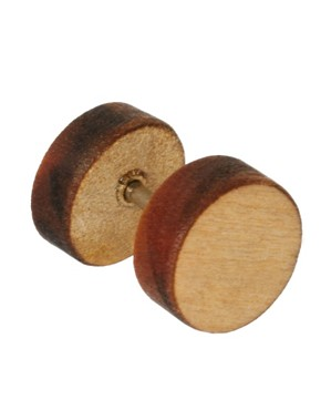 Image 3 ofASOS Wooden Plug Earrings