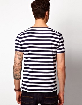 Image 2 ofASOS Stripe Grandad With Scoop Neck