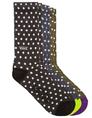 Vans Polka 3 Pack Socks