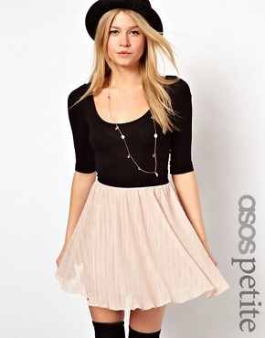 Image 1 ofASOS PETITE Exclusive 2in1 Skater Mini Dress