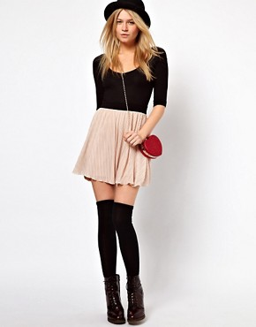Image 4 ofASOS PETITE Exclusive 2in1 Skater Mini Dress