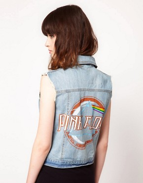 Image 1 ofAmplified Pink Floyd Sleeveless Denim Jacket