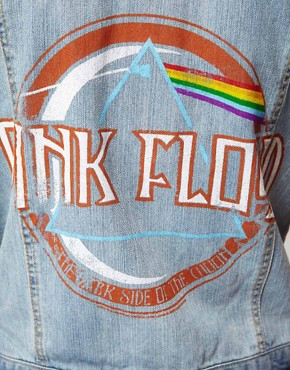 Image 3 ofAmplified Pink Floyd Sleeveless Denim Jacket
