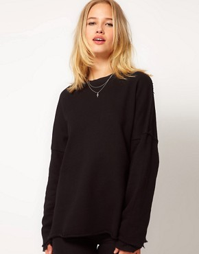 Image 1 ofSilent Damir Domar Layered Cuff Sweatshirt With Neck Binding