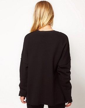 Image 2 ofSilent Damir Domar Layered Cuff Sweatshirt With Neck Binding