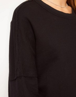 Image 3 ofSilent Damir Domar Layered Cuff Sweatshirt With Neck Binding