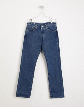 Image 3 ofLevis Jeans 501 Straight Fit Stonewash