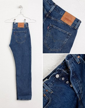 Image 4 ofLevis Jeans 501 Straight Fit Stonewash