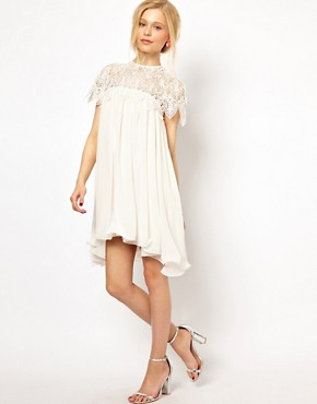 Image 4 ofLydia Bright Swing Dress with Lace Top
