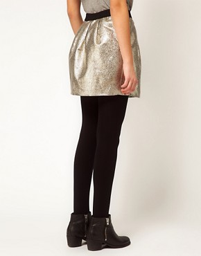 Image 2 ofSelected Metallic Mini Skirt