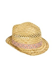 ASOS Straw Hat with Vintage Style Band