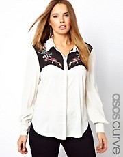 ASOS CURVE Exclusive Shirt With Western Styling