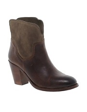 H by Hudson Brock Tan Heeled Ankle Boots