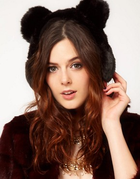 Image 1 ofRiver Island Bear Ear Muffs