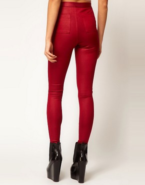 Image 2 ofASOS Skinny Disco Pants in High Shine