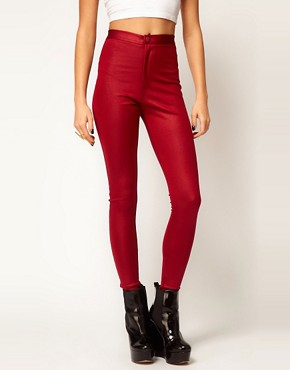 Image 4 ofASOS Skinny Disco Pants in High Shine