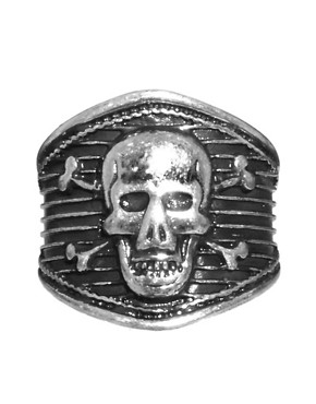 Image 2 ofASOS Skull &amp; Crossbones Ring