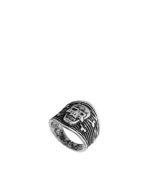 Image 1 ofASOS Skull &amp; Crossbones Ring