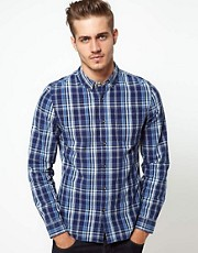 ASOS Denim Shirt With Indigo Check