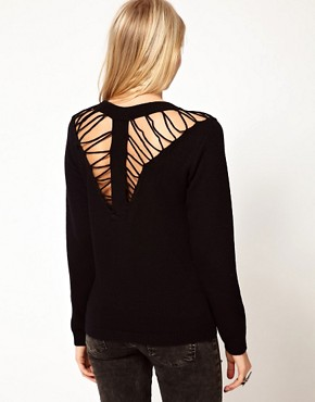 Image 2 ofASOS Jumper With Ladder Shoulder Detail