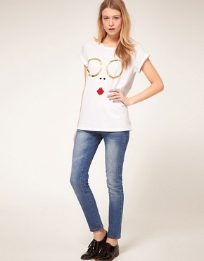 Image 4 ofASOS T-Shirt with Metallic Glasses