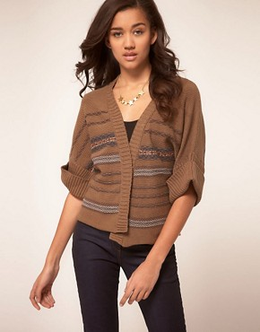 Image 1 ofKookai Wrap Cardigan With Belt